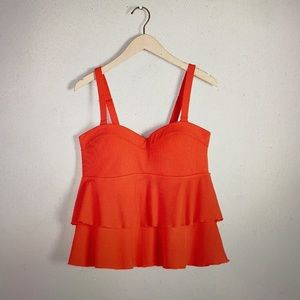 AdditionElle Orange Ribbed Ruffled top & bottom 3X